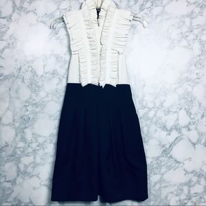 BCBGMaxAzria Tuxedo Ruffle Dress *Full Back*